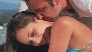 Remy Lacroix gives his crystal clear anus on the background of the same sea