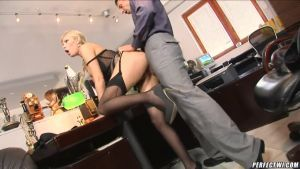 Fucked charming secretary in the workplace in the ass