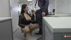 Everyone wants to fuck in the office with such a bitch