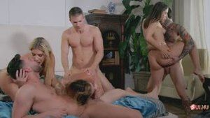 Amazing orgy between Abella Danger, Small Hands, India Summer, Cody Steele, Cherie Deville & Seth Gamble