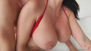 The girl with huge boobs Brooke Beretta has many talents