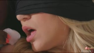 Scarlet Red blindfolds herself and and surrenders to her black mistress Ana Foxxx